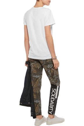 MARC BY MARC JACOBS Printed cotton slim-leg pants