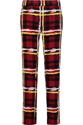 MARC BY MARC JACOBS Printed crepe slim-leg pants