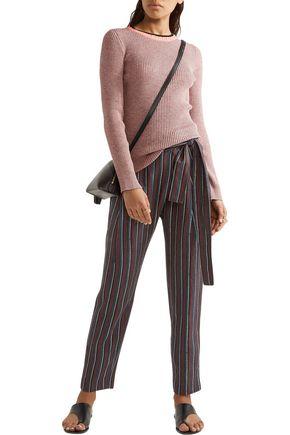 APIECE APART Wrap-effect jacquard tapered pants