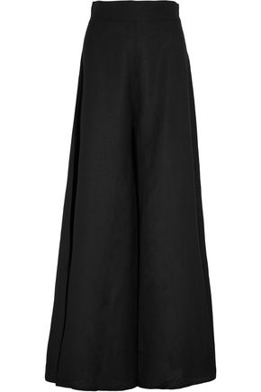 PAPER London Kelly linen wide-leg pants