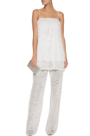 REBECCA VALLANCE Pleated lace pants