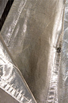 ISABEL MARANT Nubia silk-blend lamé jumpsuit