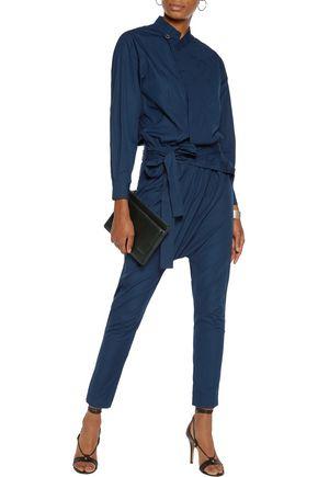 ISABEL MARANT Meery wrap-effect cotton-poplin jumpsuit