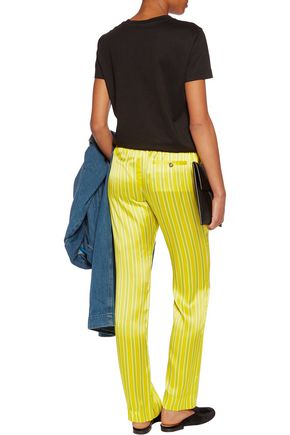 MIRA MIKATI Striped silk straight-leg pants