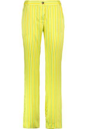 MIRA MIKATI Striped silk straight-leg pants