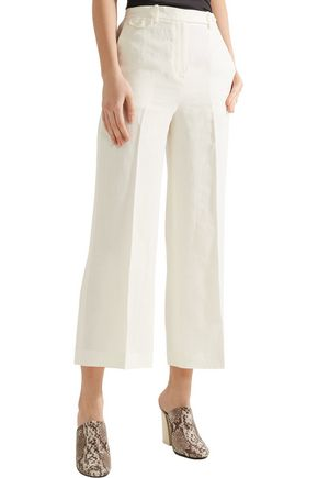 THEORY Nadeema pleated linen wide-leg pants