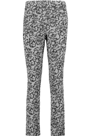 CARVEN Printed crepe slim-leg pants