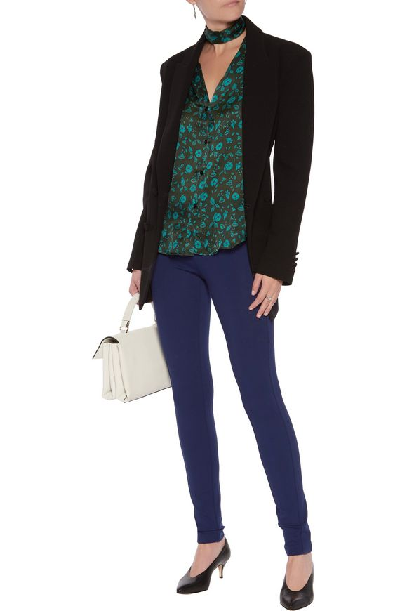 Stretch-jersey leggings | DIANE VON FURSTENBERG | Sale up to 70% off | THE  OUTNET
