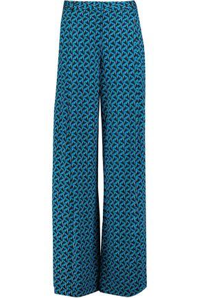 DIANE VON FURSTENBERG Stanton printed silk-jersey wide-leg pants