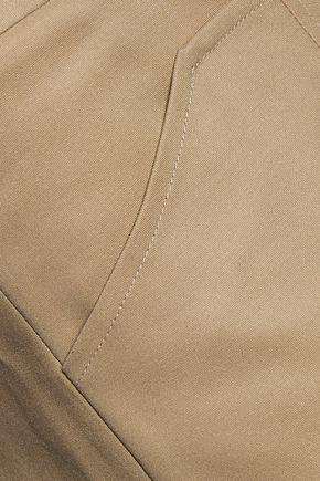 HALSTON HERITAGE Paneled poplin slim-leg pants