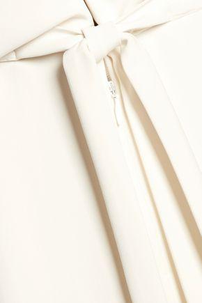 HALSTON HERITAGE Draped crepe de chine jumpsuit