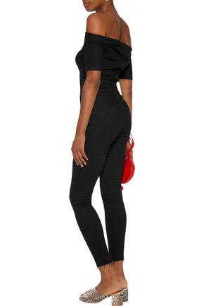 3x1 Off-the-shoulder denim jumpsuit