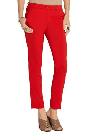 MICHAEL KORS COLLECTION Samantha stretch-wool gabardine slim-leg pants
