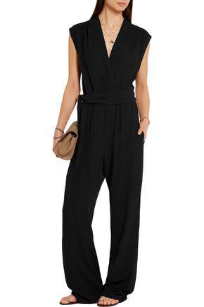 MICHAEL KORS COLLECTION Wrap-effect silk-georgette jumpsuit