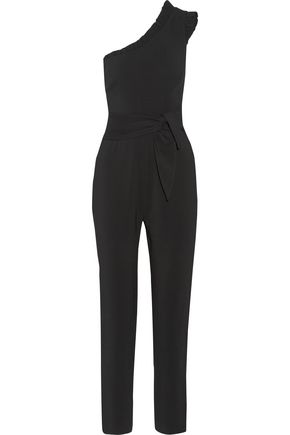 SALONI Alice one-shoulder stretch-crepe jumpsuit