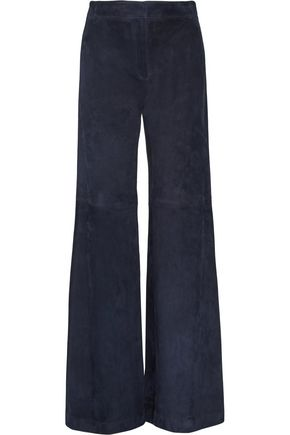 THEORY Terena suede bootcut pants