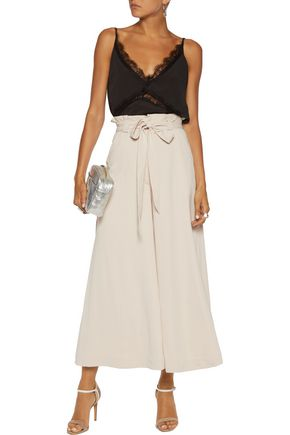 PERSEVERANCE Cropped twill wide-leg pants