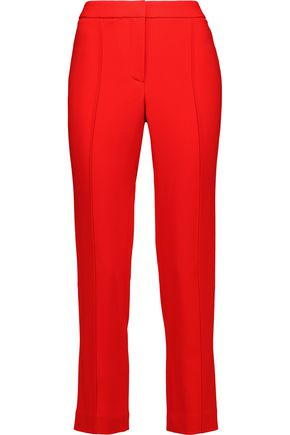 ADAM LIPPES Cigarette cropped crepe slim-leg pants