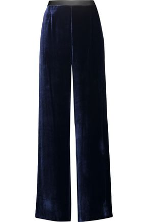 T by ALEXANDER WANG Velvet wide-leg pants