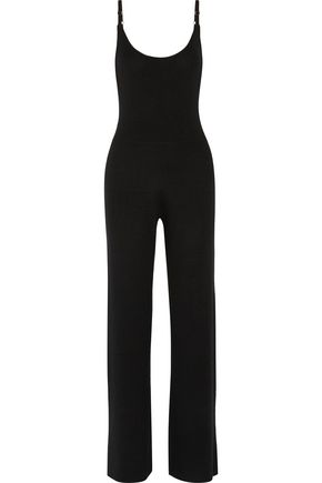 A.L.C. Bennett ribbed-knit stretch-merino wool jumpsuit