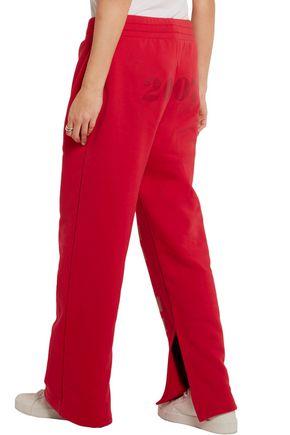 72883c6b Off split-hem printed cotton-jersey track pants | OFF-WHITE™ | Sale ...