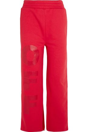 OFF-WHITE™ Off split-hem printed cotton-jersey track pants