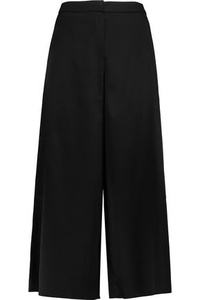 GOEN.J Cropped satin wide-leg pants