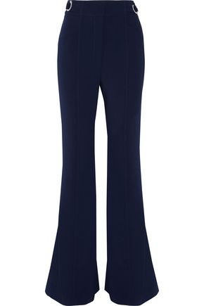 PROENZA SCHOULER Belted wool-blend crepe flared pants