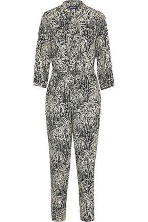 VANESSA SEWARD Combinaison printed silk-jacquard jumpsuit