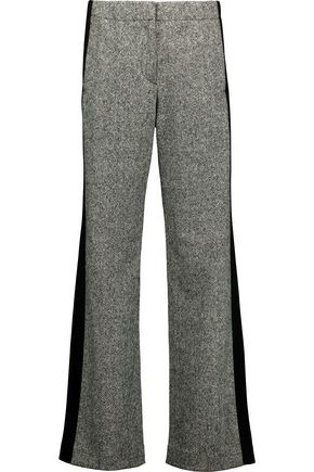 RAG & BONE Adler faille-paneled marled stretch wool-blend track pants