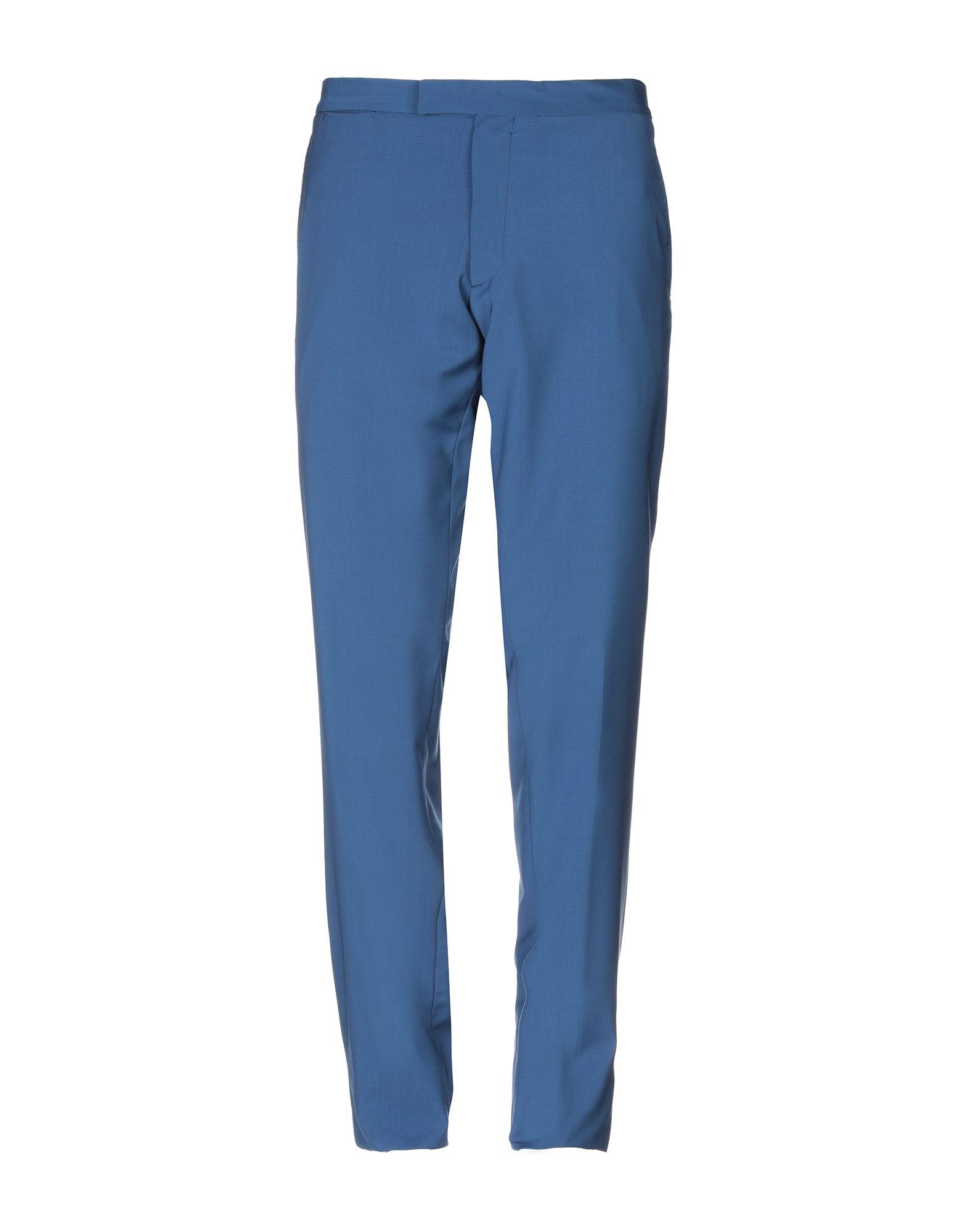《送料無料》MESSAGERIE メンズ パンツ ブルー 54 バージンウール 100%