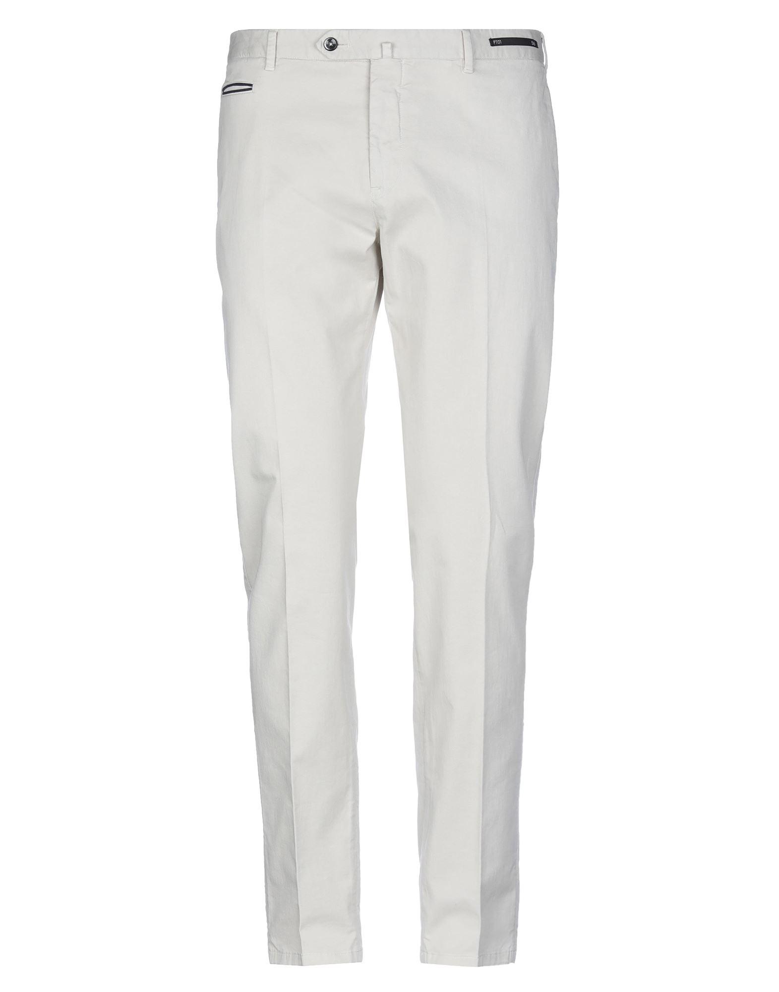 《セール開催中》PT Torino メンズ パンツ アイボリー 56 コットン 98% / ポリウレタン 2%