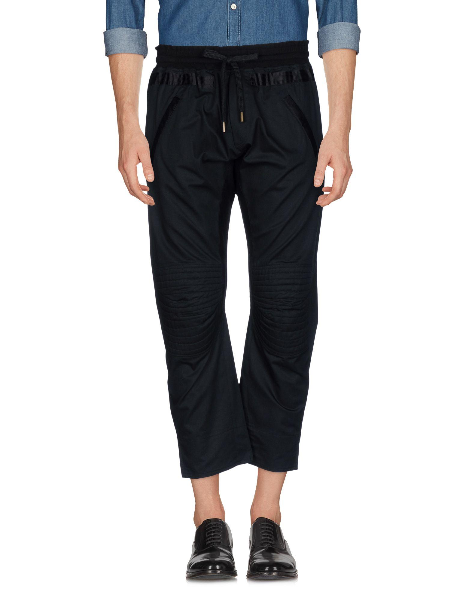 《送料無料》.AMEN. メンズ パンツ ブラック 44 コットン 100% / ポリウレタン / アセテート
