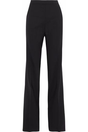 VIONNET Wool-blend twill straight-leg pants