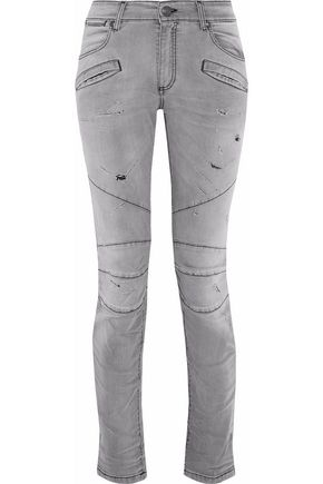 PIERRE BALMAIN Distressed skinny jeans