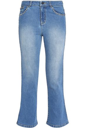 ALICE + OLIVIA Faded flared jeans