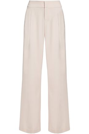 ALICE + OLIVIA Pleated crepe wide-leg pants