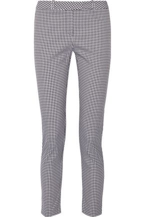 ALTUZARRA Henri gingham cotton-blend skinny pants