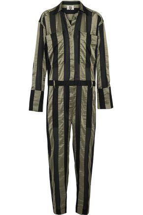 TOPSHOP UNIQUE Duvall striped satin jumpsuit
