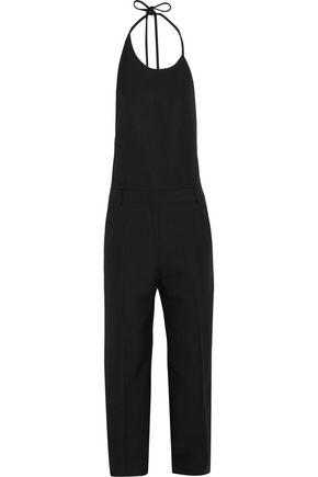 TOPSHOP UNIQUE Saunderson wool-canvas halterneck jumpsuit