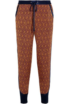 3.1 PHILLIP LIM Satin-trimmed jacquard tapered pants