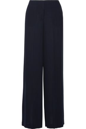 THEORY Silk-crepe wide-leg pants