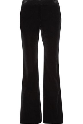 THEORY Caroleena stretch-cotton velvet bootcut pants