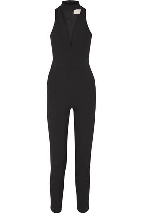 MICHELLE MASON Cutout stretch-crepe jumpsuit