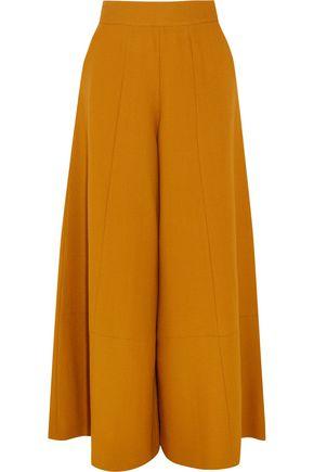 MERCHANT ARCHIVE Wool-crepe wide-leg pants
