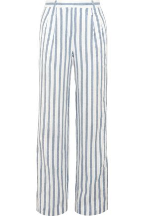 MICHAEL MICHAEL KORS Shadow striped linen wide-leg pants