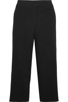 DKNY Cropped crepe wide-leg pants