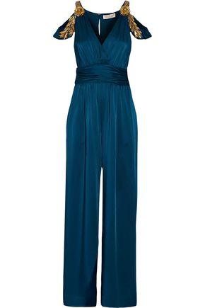 RACHEL ZOE Cora embellished satin jumpsuit