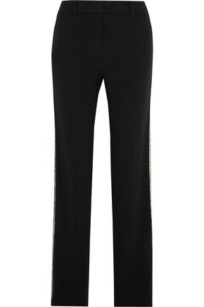 VANESSA BRUNO Girel sequin-embellished crepe straight-leg pants