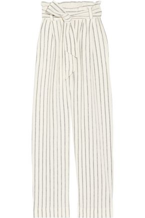 BY MALENE BIRGER Ginas striped cotton-terry wide-leg pants
